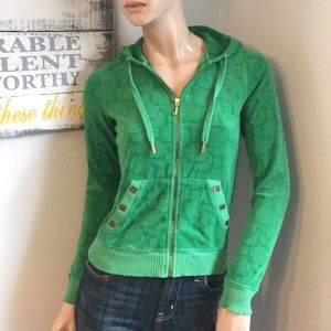 Green Juicy Couture extra small hooded sweatshirt
